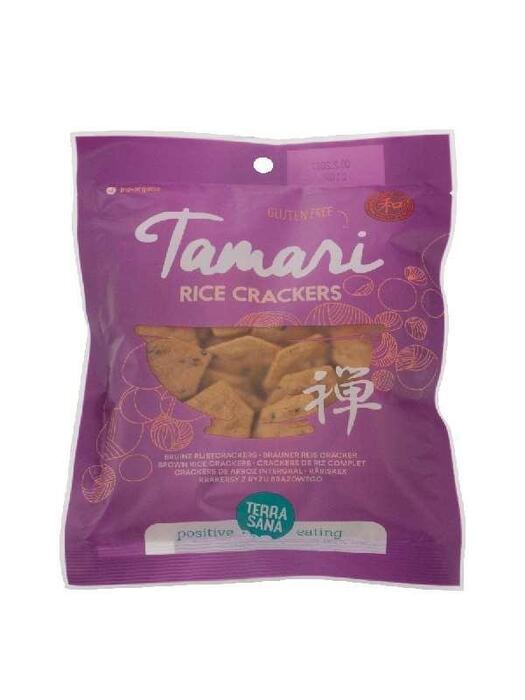 Tamari Rice crackers - Japanse bruine rijstcrackers - glutenvrij TerraSana 60g (60g)