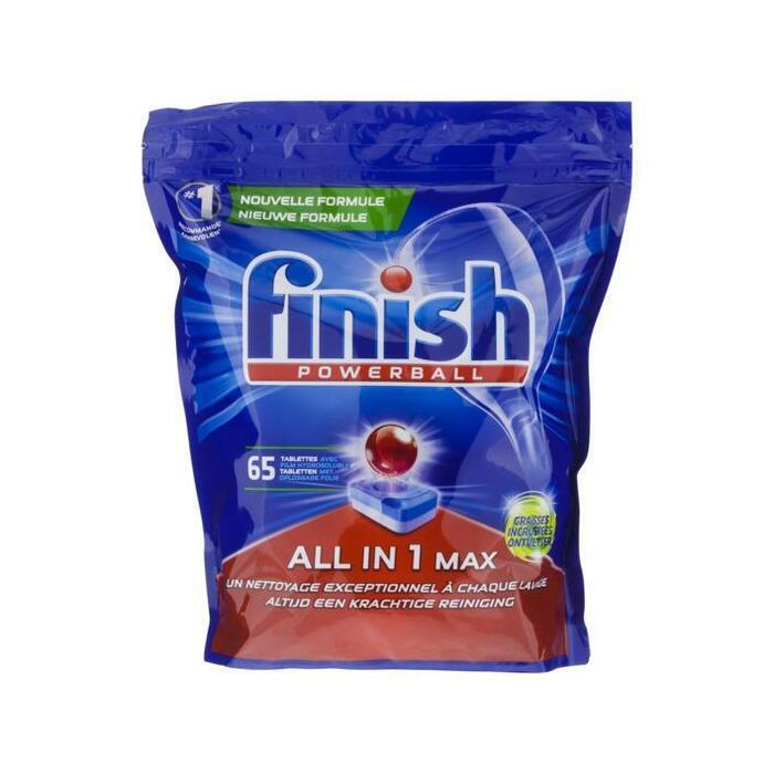 Finish All-in-1 max vaatwastabletten ontvetter (63 × 1.01kg)