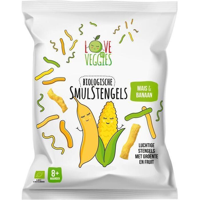 Love My Veggies Biologische Smulstengels Mais & Banaan 8+ Maanden 25 g (25g)