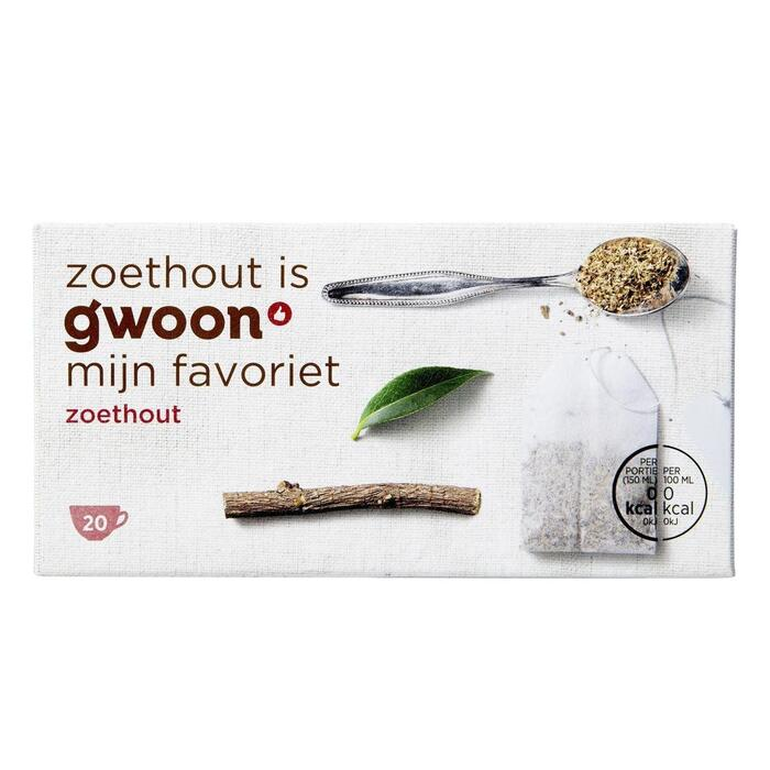 g'woon Zoethout thee (20 × 40g)