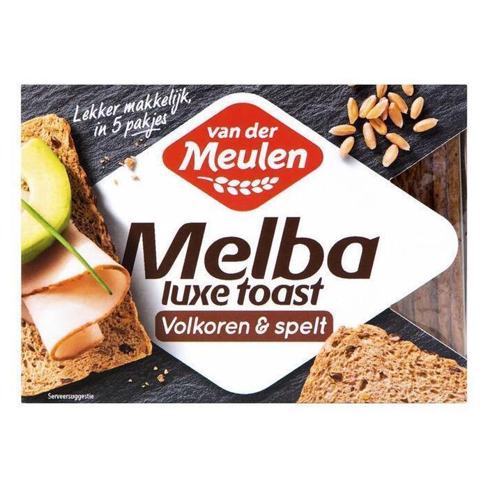 Van der Meulen Melba toast luxe volkoren & spelt (100g)
