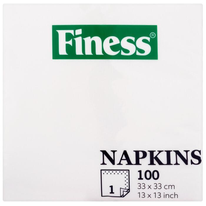 Finess Napkins White 100 Stuks (100 st.)