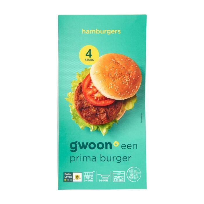 g'woon hamburgers (280g)
