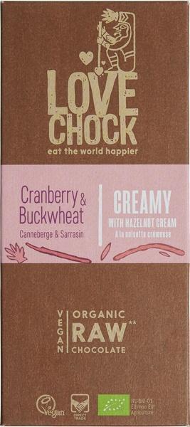 Chocotablet creamy cranberry buckwheat (70g)