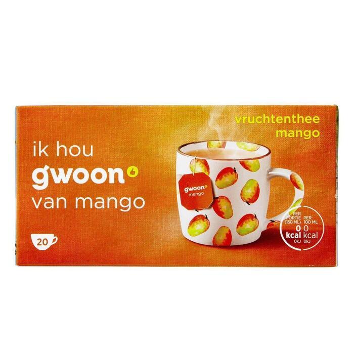 g'woon Vruchtenthee mango (20 × 40g)