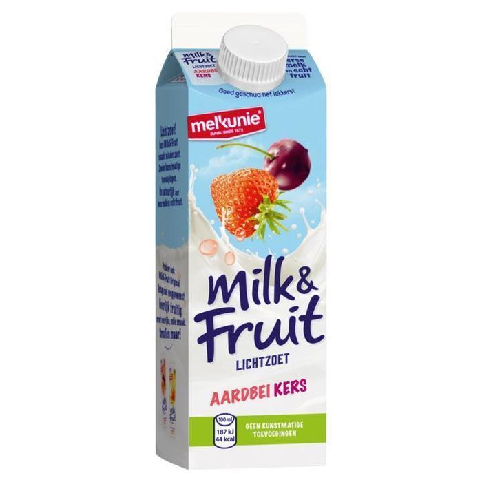 Milk & Fruit Aardbei Kers (pak, 0.5L)