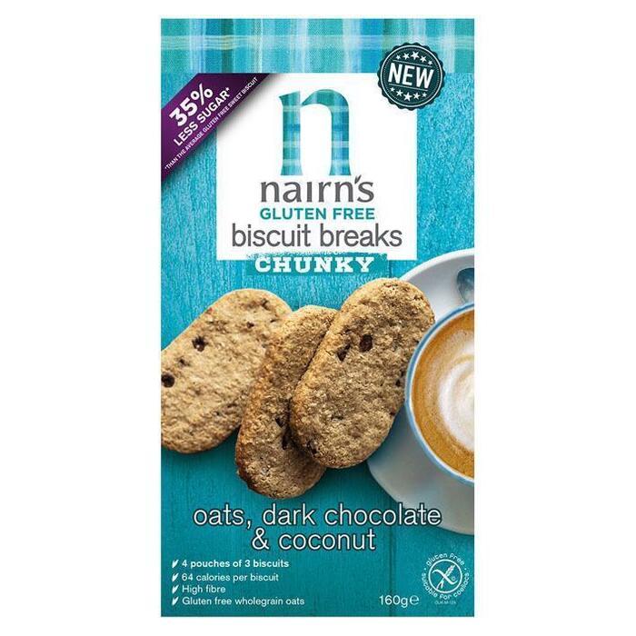 Nairn's Gluten free chunky oats blueber & raspbe (160g)