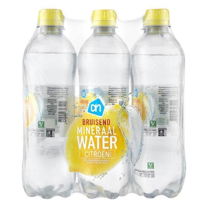AH Bruisend mineraalwater citroen (6 × 0.5L)