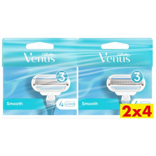 Venus Smooth Navulmesjes 2x4 verpakking