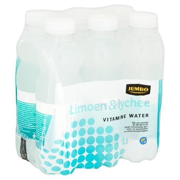 Jumbo Limoen & Lychee Vitamine Water 6 x 500ml (6 × 0.5L)