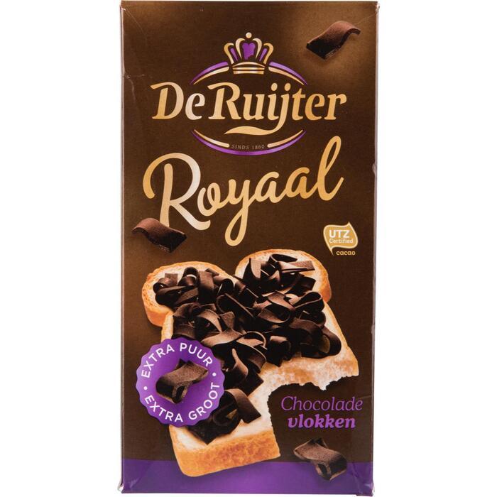De Ruijter Royaal chocolade vlokken puur (300g)