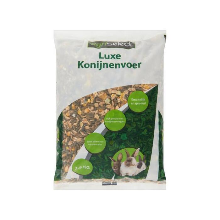 Agriselect Luxe Konijnenvoer 2, 5kg (2.5kg)