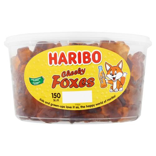 Haribo Cheeky Foxes 150 Stuks Bakje (1.2kg)