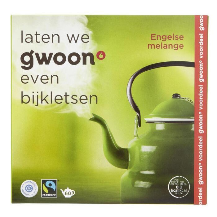 g'woon Engelse melange thee (60 × 240g)