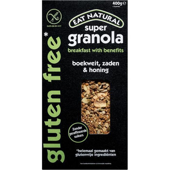 Eat Natural Super granola gluten free boekweit (400g)