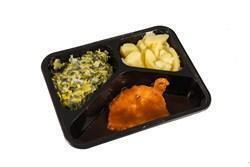 Varkensfiletlap jus prei met saus gekookte aardappelen (500g)