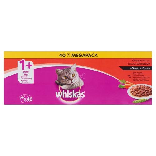 Whiskas Classic Selectie in Saus 1+ Jaar Economy Pack 40 x 100 g (40 × 100g)