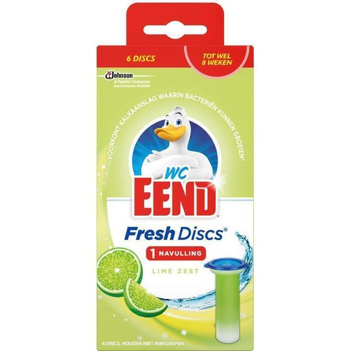 WC Eend Fresh discs lime navulling (36ml)