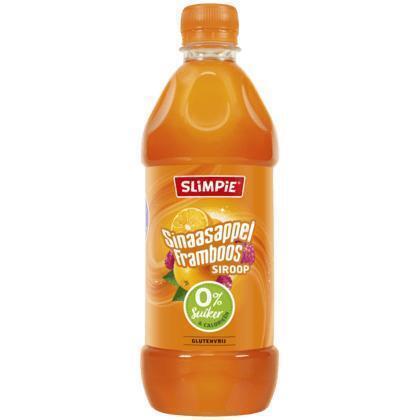Siroop sinaasappel framboos (0.58L)