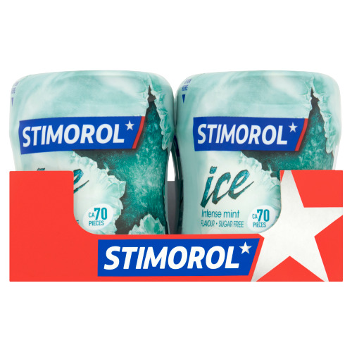 Stimorol Ice Intense Mint Flavour Sugar Free 6 x 101,5 g (102g)