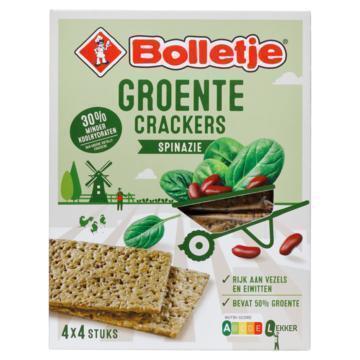 Bolletje Groente Crackers Spinazie 4 x 4 Stuks 200 g (200g)