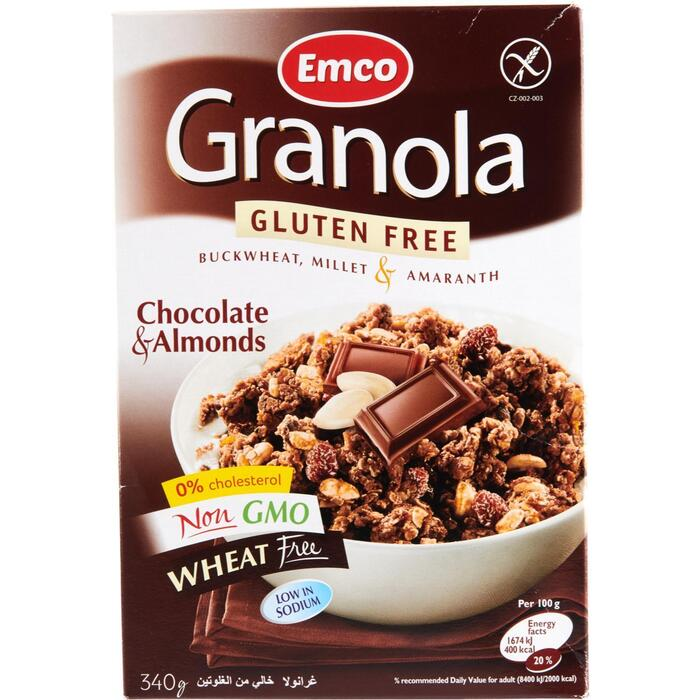 Granola chocolate almond (340g)