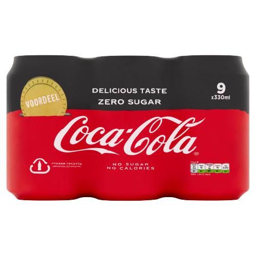 Coca-Cola Zero Sugar 9 x 330ml (12 × 250ml)