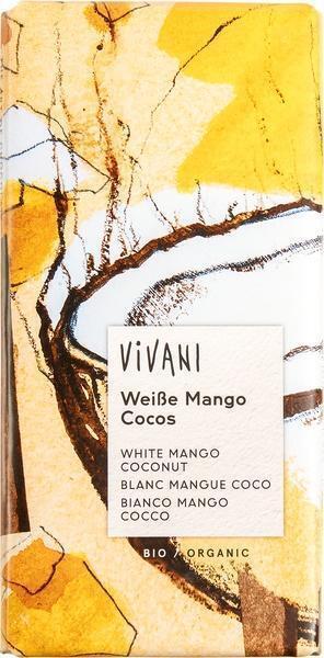 Chocoladetablet wit mango-kokos (80g)