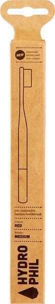 Bamboe tandenborstel rood medium soft
