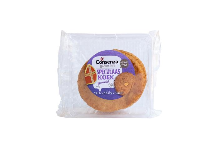 Consenza Gluten Free Gevulde Speculaas Koek 60 g (60g)