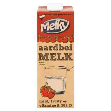 Melky Drink aardbei (1L)