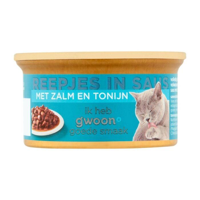 g'woon Premium reepje zalm kat (85g)