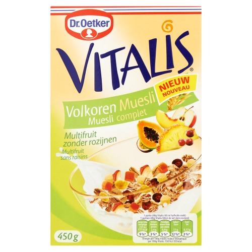 Dr. Oetker Vitalis Volkoren Muesli Multifruit (450g)