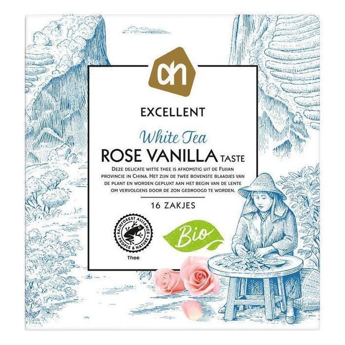 AH Excellent Witte thee rose vanilla-taste