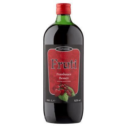 Fruti Vruchtenwijn frambozen bessen (rol, 1L)