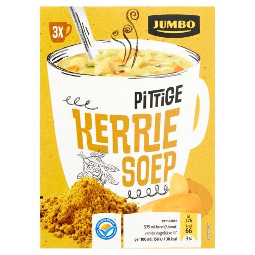 Jumbo Pittige Kerrie Soep 3 Zakjes 42, 0g (42g)