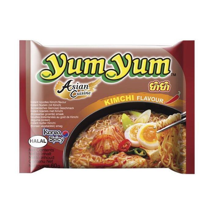 Yum Yum Kimchi smaak pakje instant noedels (60g)