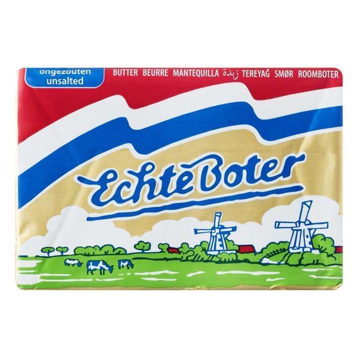Echte Boter Roomboter Ongezouten (Stuk, 250g)