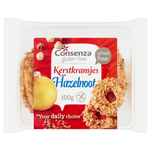 Consenza Glutenvrije Hazelnoot Kransjes (100g)