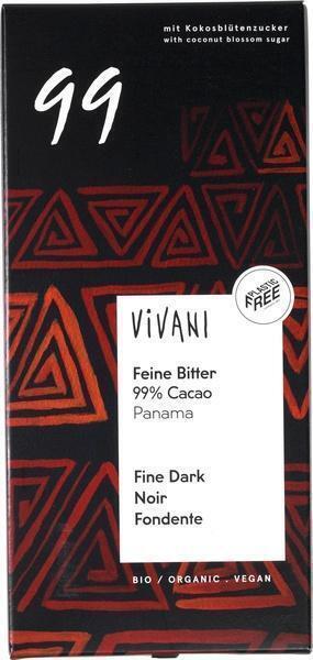 99% cacao Feine Bitter (reep, 80g)