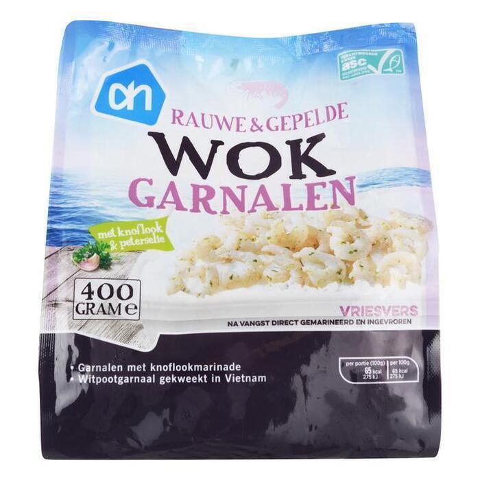 Wokgarnalen met knoflook en peterselie (zak, 400g)