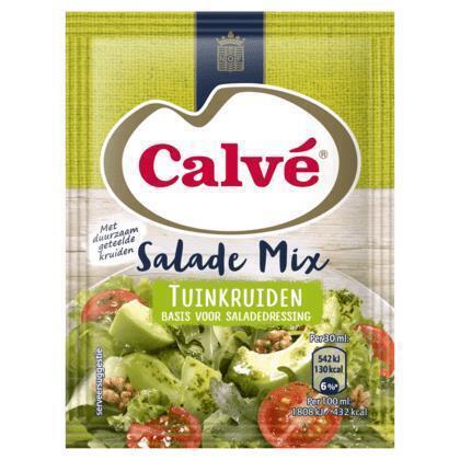 Calve Salade Mix Tuinkruiden 8 g (3 × 30g)