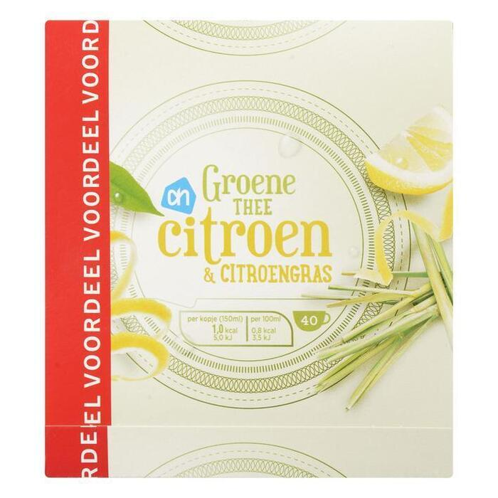 AH Groene thee citroen & citroengras
