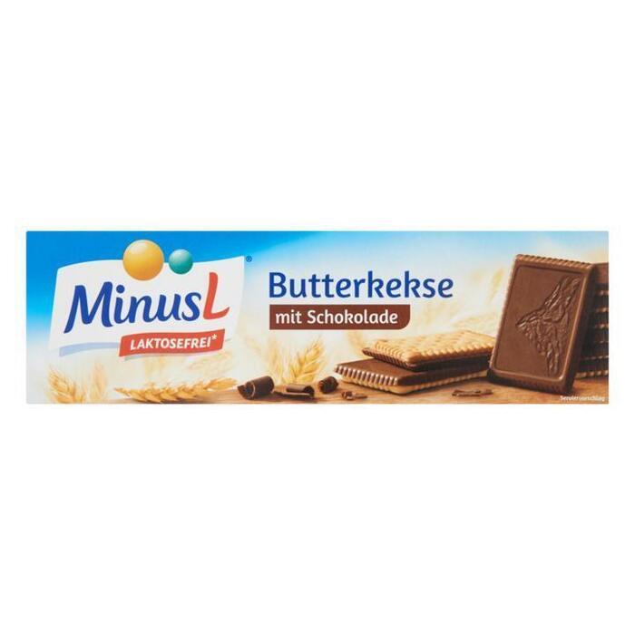 MinusL Boterkoekjes met Chocolade 125g (200g)