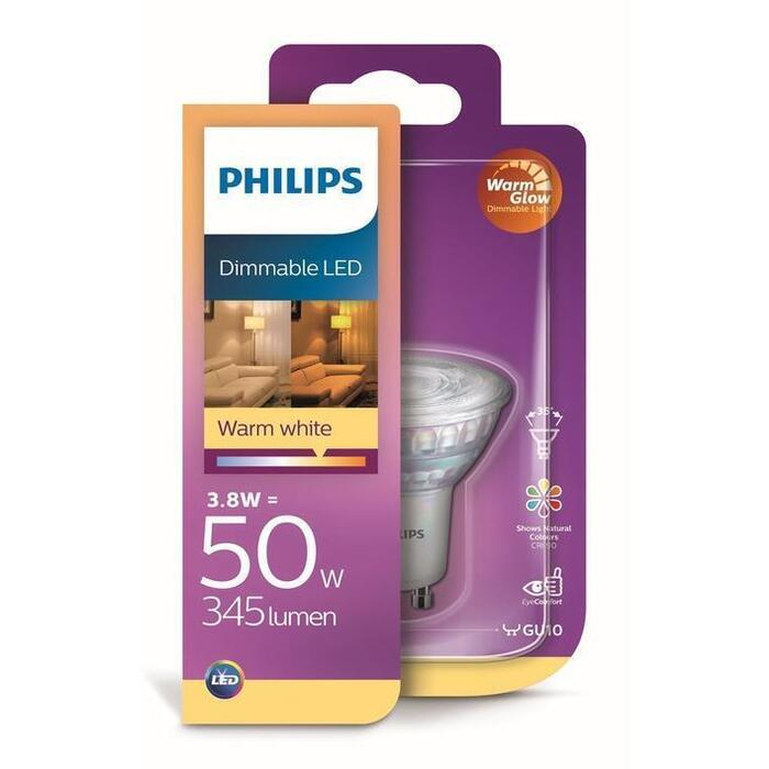 Philips Ledlamp warmwit dimmable 50W GU10 230V