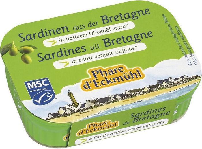Sardines uit Bretagne in extra vergine olijfolie (115g)