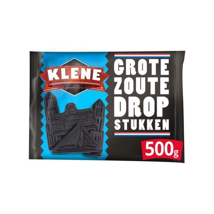 Klene Grote Zoute Drop Stukken Voordeel 500g (500g)