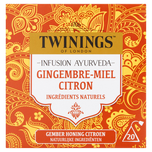 Twinings Infusion Ayurveda Gember Honing Citroen 20 Builtjes 32 g (32g)