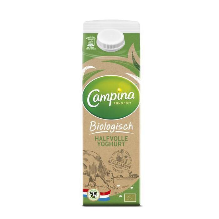 Boerenland Biologische Halfvolle Yoghurt (Stuk, 1L)