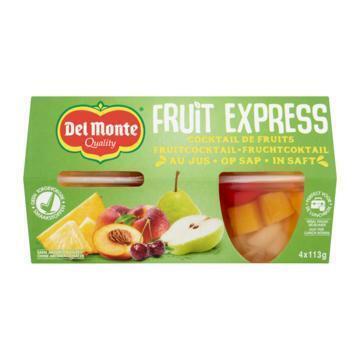 DEL MONTE Gemengd fruit Fruit Cocktail 4 stuks (kuipje, 4 × 113g)